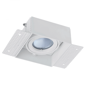 Arc LED Trimless Plaster-in Single Head Adjustable Downlight (White)