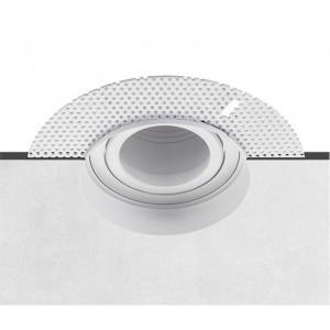 Arc LED Plaster-in Adjustable GU10 Downlight (White)