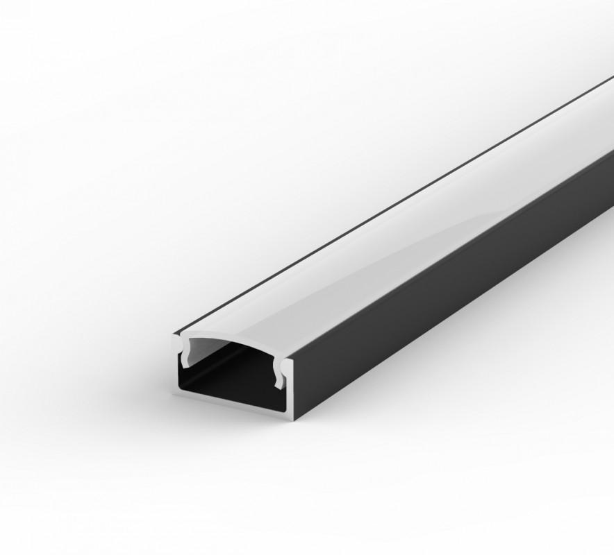 Arc LED Flat Black Profile
