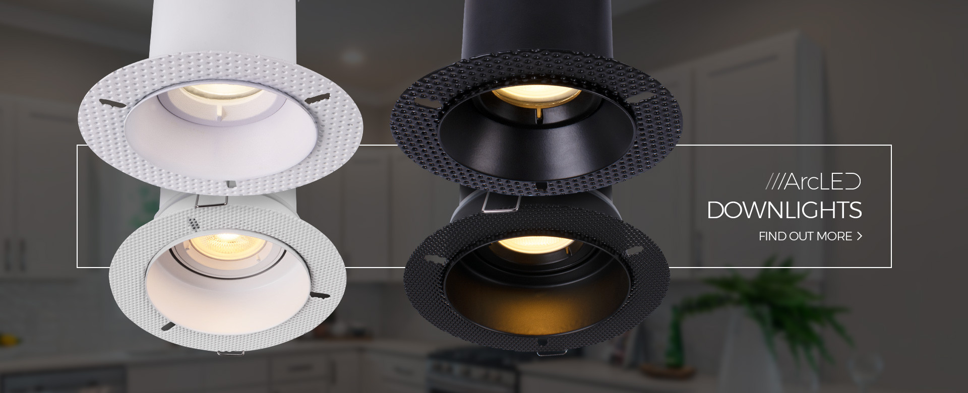 Arc LED Plaster in Downlights